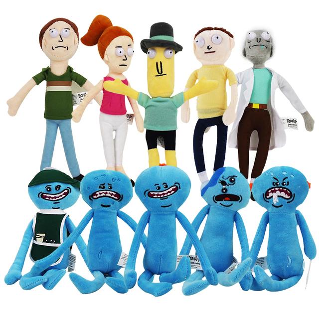 Rick and Morty- Happy & Sad Mr. Meeseeks stuffed plushs
