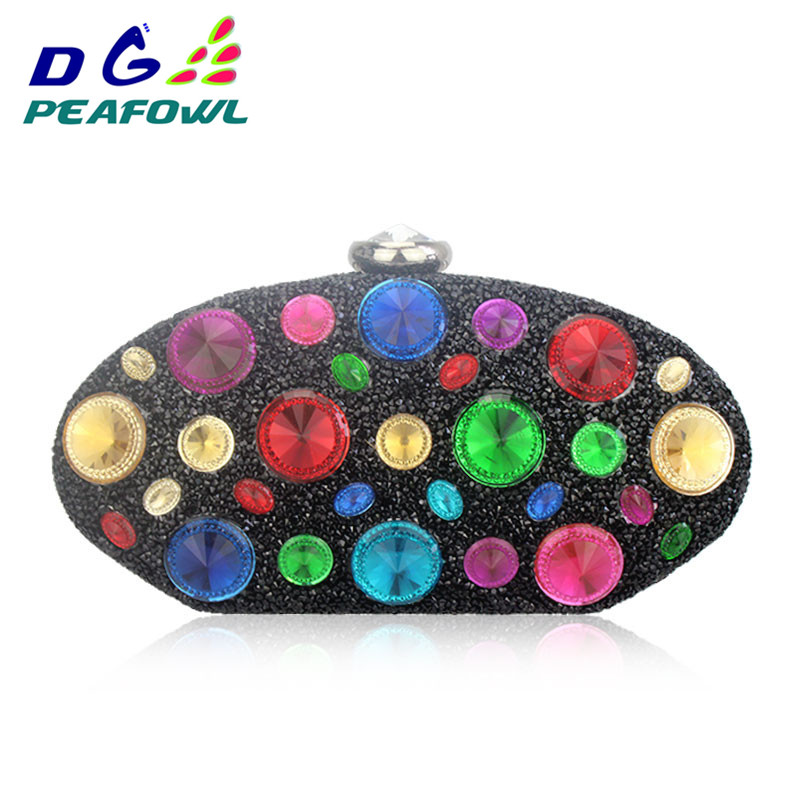 Custom Colorful Crystal Oval Women Toiletry Bag Clutch Wedding Evening PVC Solid Wallets Femme Hasp Diamond Handbags PackageCustom Colorful Crystal Oval Women Toiletry Bag Clutch Wedding Evening PVC Solid Wallets Femme Hasp Diamond Handbags Package
