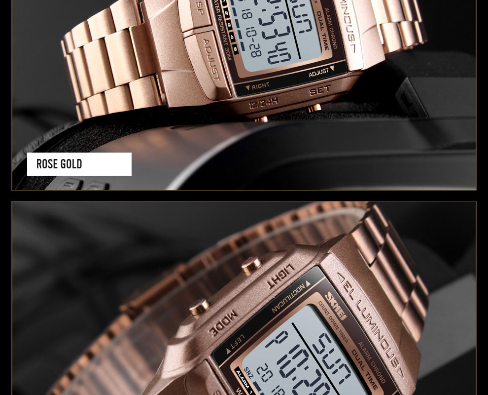 SKMEI Sports Watch Men Digital Watch Alarm Clock Countdown Watch Large Dial Glass Mirror Clock Fashion Outdoor Relogio Masculino 22