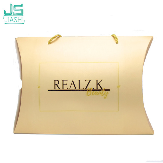 Us 5 52 8 Off Gold Color Can Be With Custom Logo Hair Extensions Packaging Box Hair Extension Packaging Clothing Box In Gift Bags Wrapping