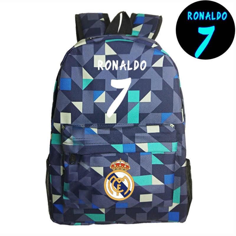 8f32281fcecc ... 7 # сумка Роналду Рюкзаки Школа моды рюкзак для подростков мальчиков и  девочек Барселона путешествия школьный ...