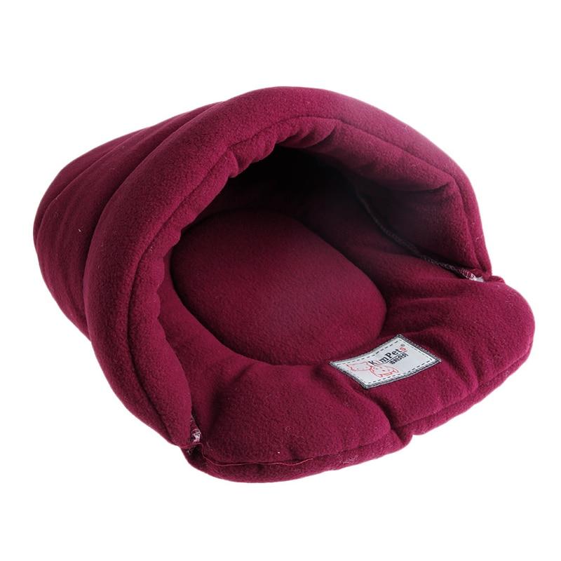 Pet Cat House Soft Warm Winter Dog Cat Bed Flip Flop Cave Dog House Cute Kennel Nest Dog Fleece Cat Bed Yx# #4