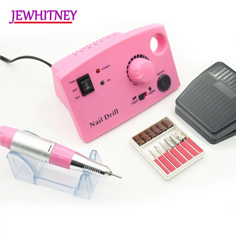 35000RPM 25W Electric Manicure Machine Nail Drill Machine Manicure cutters Accessory Machine Kits Pedicure Nail File Tools