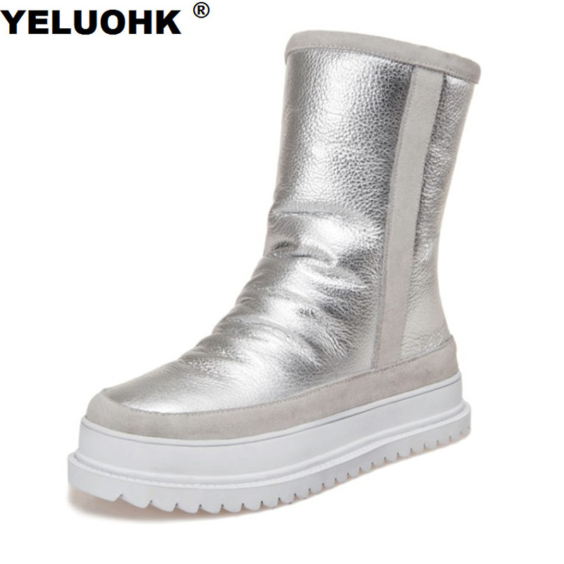 New Winter High Boots Women Shoes Warm Waterproof Snow Boots Platform Winter Shoes Woman With Fur Australia Boots Ladies Shoes 20inch rp tnc female jack waterproof to sma male rf adapter connector 50cm pigtail coaxial jumper cable rg316 extension cord