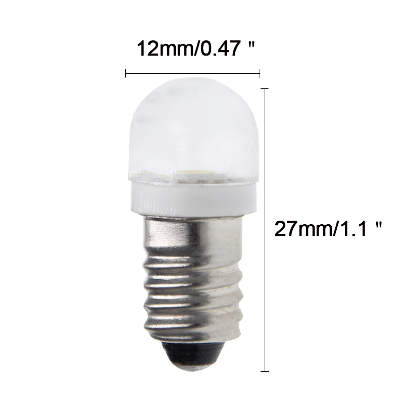 Image 2 - 1/2/4 Pcs New Rushed Lamp 2835 Smd 1 Led Bulb Dc 6v Volt White Mes E10 1447 Screw For Torch Bike Bicycle Free Shipping-in Car Headlight Bulbs(LED) from Automobiles & Motorcycles