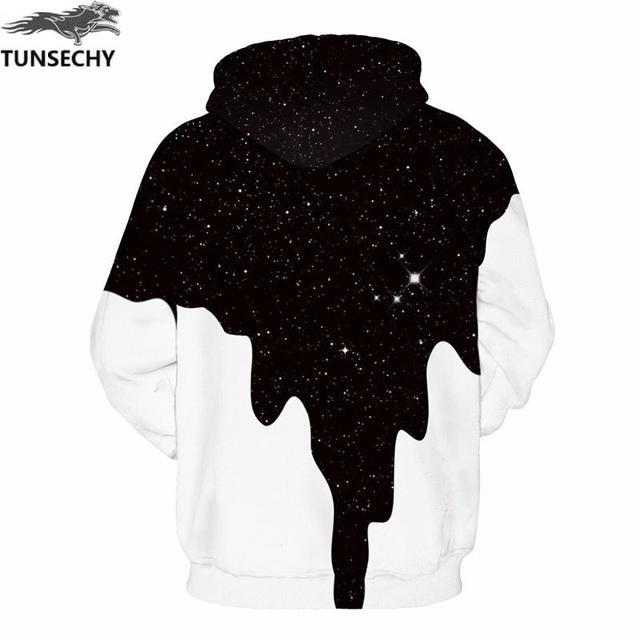 3D Milk Space Galaxy Print Hoodies