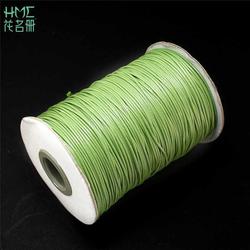 卸売 1 ミリメートル 15 メートルワックスビーズ糸の綿コードロープ diy ファッションジュエリー所見ネックレスロープビーズフィットブレスレット