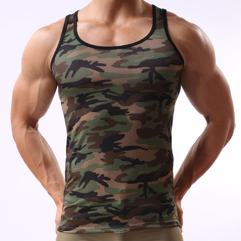Penyamaran Lelaki Tank Top Brand Lycra Bodybuilding Fitness Singlets Summer Undershirt Vest Clothes Muscle Mens Tank Tops Shirt