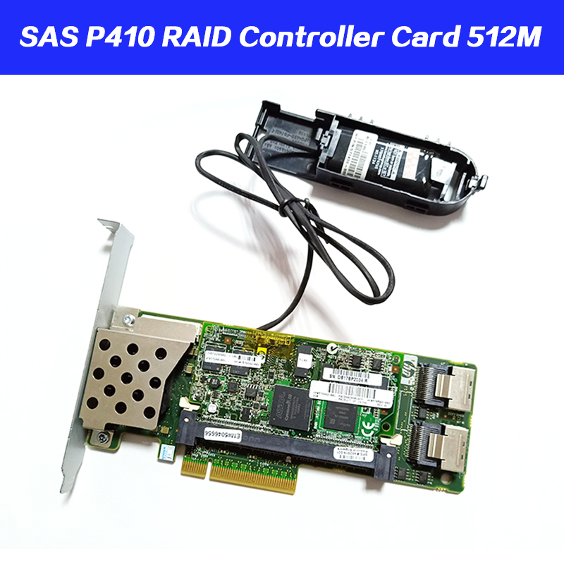 462919-001 013233-001 Array SAS P410 RAID Controller Card 6Gb PCI-E With 512M Battery RAM