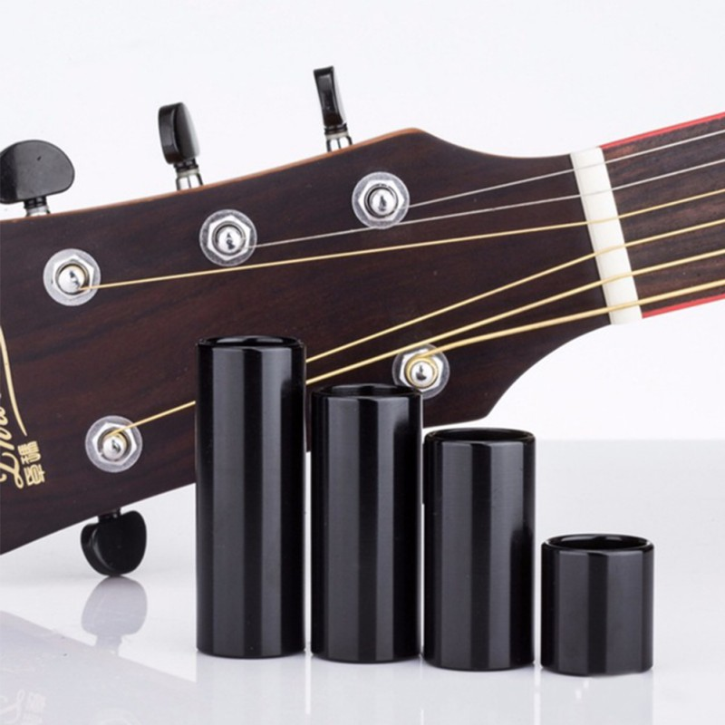 28/50/60 / 70mm Stainless Steel Black Guitar String Finger Slide Slider Bright Sound Acoustic Electric Guitar Parts Accessory