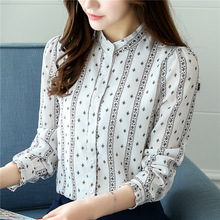 New Style Fashion Women Slim All-match Korean Elegant Chiffon Shirts Blouses