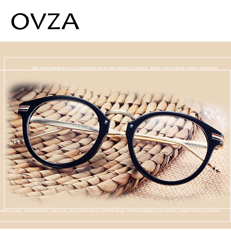 83fc5b3b767 OVZA 2018 Oval Glasses Frames Women Ultra light TR90 Optical Frame Men High  Quality Fashion Reading Glasses Transparent S9064-in Eyewear Frames from  Apparel ...