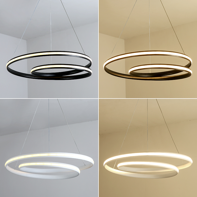 Modern LED Pendant Lights For Living Room Bedroom Dining Room White/Black HangIng Lighting Fixtures LED Pendant Lamp AC85-265V diamond himmeli pendant lights black iron art birdcage pendant lamp suspension for living room bedroom lighting fixtures pl321 page 5
