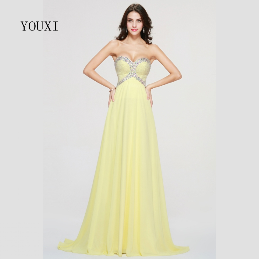 Sexy Sweetheart Long Prom Dresses 2019 Orange Chiffon Beaded Crystal Formal Evening Gowns PD75