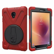 купить Full Body Protective Case For Samsung Galaxy Tab A 8.0 T380 T385 2017 Impact Resistant Hybrid Heavy Duty Armor Defender Cover по цене 599.92 рублей