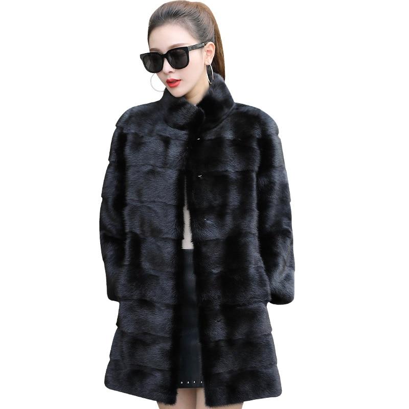 Mink Fur Coat 2017 Autumn And Winter New Mink Coat Female Long