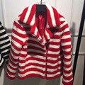 Merino Ovejas chaqueta De Piel mujer abrigo de piel de oveja