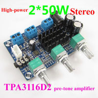 TPA3116D2 2.0 CH D Sınıfı 50 W + 50 W Yüksek Güç Stereo Dijital Amplifikatör Kurulu 50 W * 2 dc 12 v 19 v araba
