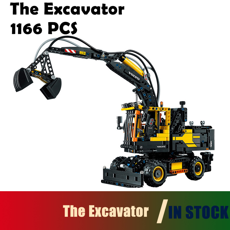 Excavator toy 20023 1166pcs  building blocks Figure bricks toys for children Compatible with Lego Genuine Technic 42053 lepin 02012 city deepwater exploration vessel 60095 building blocks policeman toys children compatible with lego gift kid sets