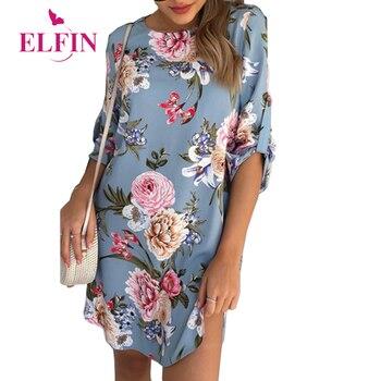 Women Blouse Shirt Print Flower Short Sleeve Blouses