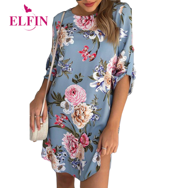 Women Blouse Shirt Print Flower Short Sleeve Blouses