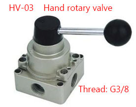 Free shipping HV-03 4 Port 3 Position 3/8 BSPT Hand Operated Pneumatic Valve Rotary Manual Control 5 port 2 position 3 8 bspt hand operated air valve hand return manual control 4r310 10