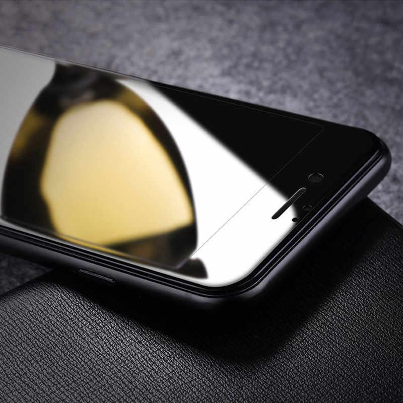 9D Melengkung Kaca Tempered Di UNTUK iPhone 7 7 Plus X XS Penutup Penuh Pelindung Layar Kaca untuk iPhone 7 8 6 6S PLUS Film