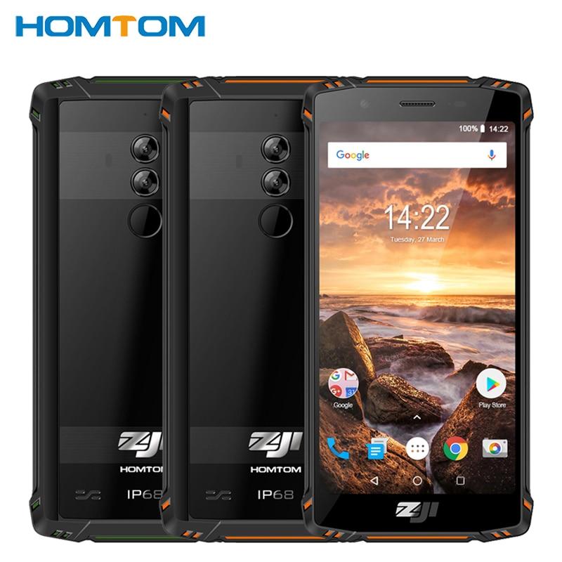 HOMTOM ZOJI Z9 IP68 téléphone portable étanche 5.7 pouces 6 GB RAM 64 GB ROM MTK6763 Octa Core Android 8.1 5500 mAh identification de visage Samrtphone