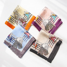 popular Knight printed silk scarf professional decoration small  hairband