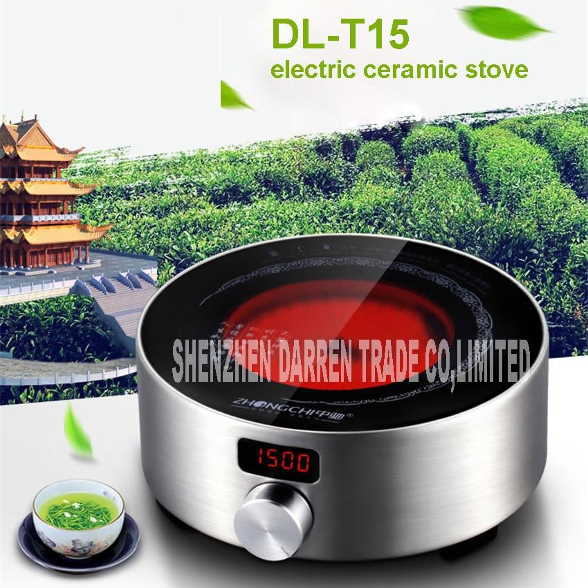NEW 220V Intelligent electric ceramic stove DL-T15 stove tea mini household electromagnetic 1000w to 1500w Kung Fu Tea cooker wholesale ru ru goldfish tea italics opening piece ceramic tea gift sets new