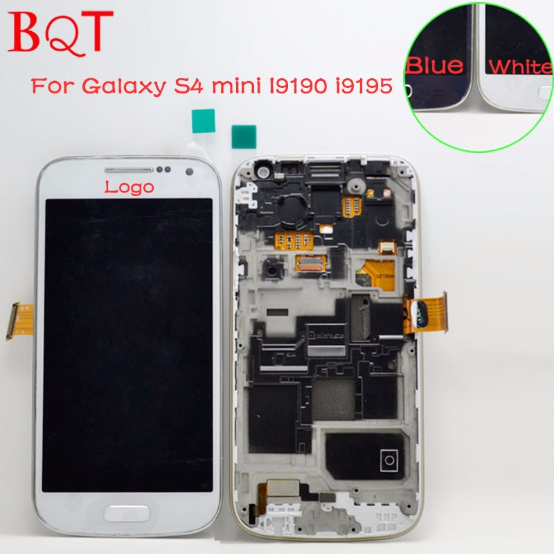 Samsung-Galaxy-S4-mini-i9190-i9195-LCD-Touch-Screen-Digitizer-Assembly-with-frame-(1)