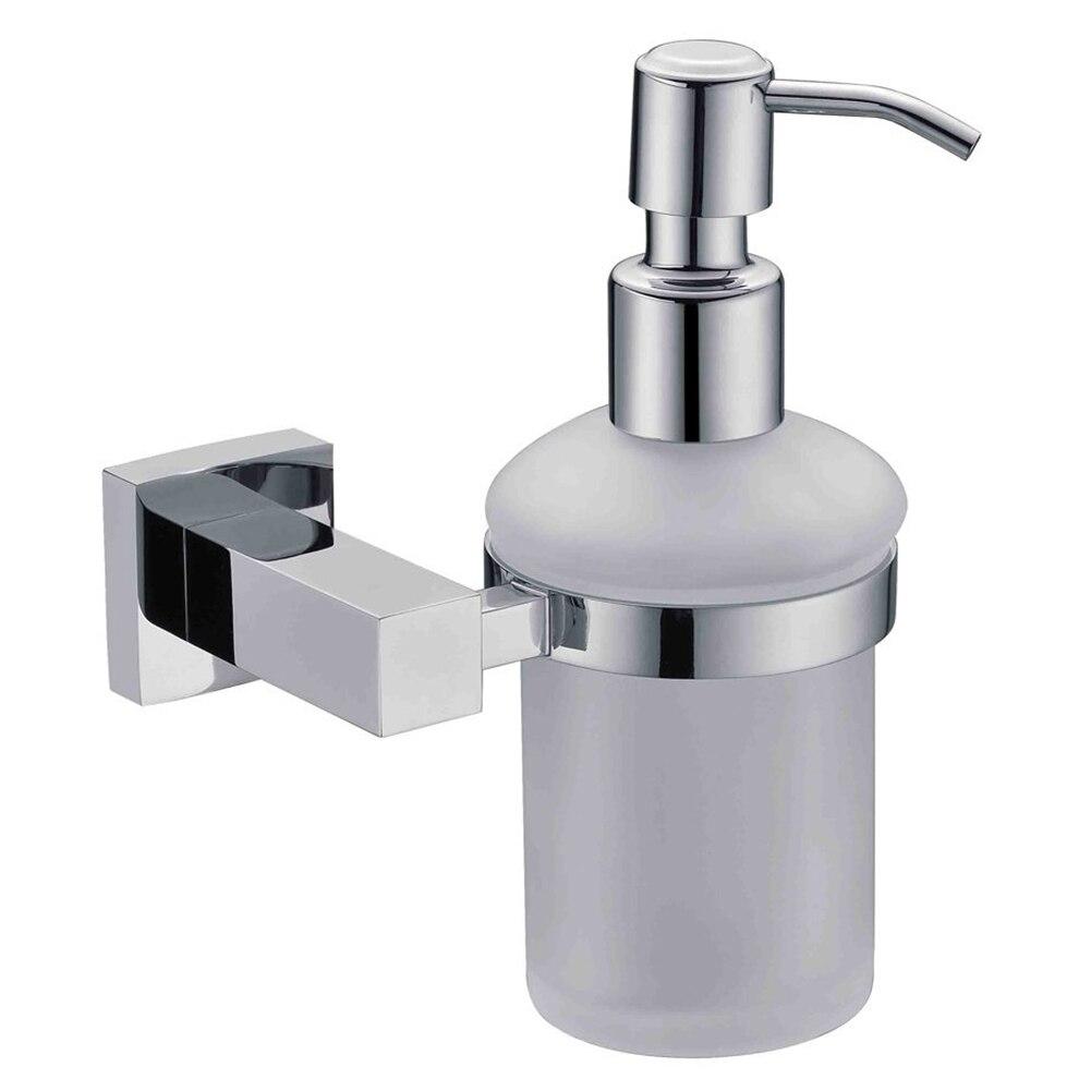 Square Liquid Soap Lye Dispenser Made of Stainless Steel with Chroming Holder for Bathroom 11 11 free shippinng 6 x stainless steel 0 63mm od 22ga glue liquid dispenser needles tips