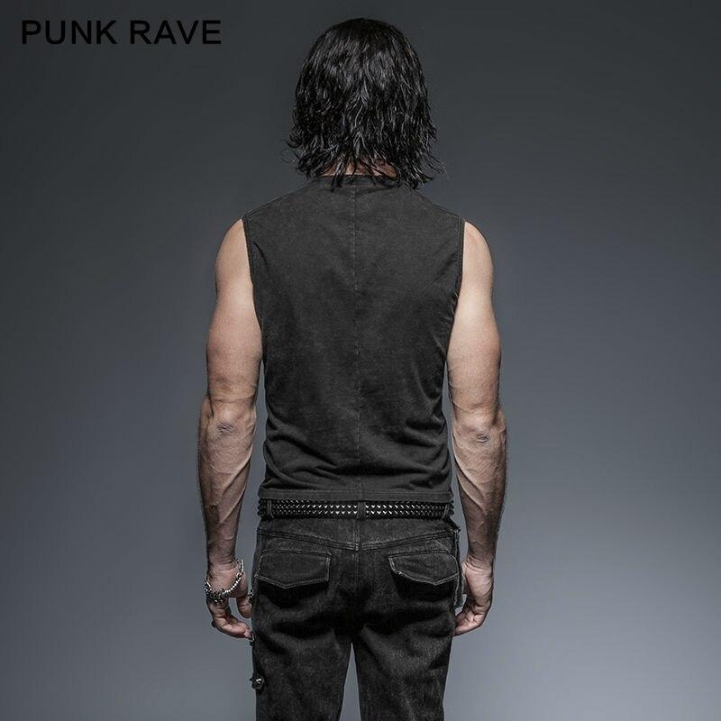 Punk Rave Mens Black Steampunk Rock Անփույթ - Տղամարդկանց հագուստ - Լուսանկար 4