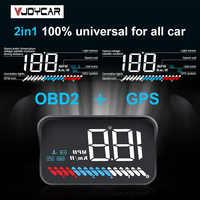 GPS Hud OBD ヘッドアップディスプレイデジタル速度表示スピードメーター RPM 水温アラームユニバーサルすべての車のため