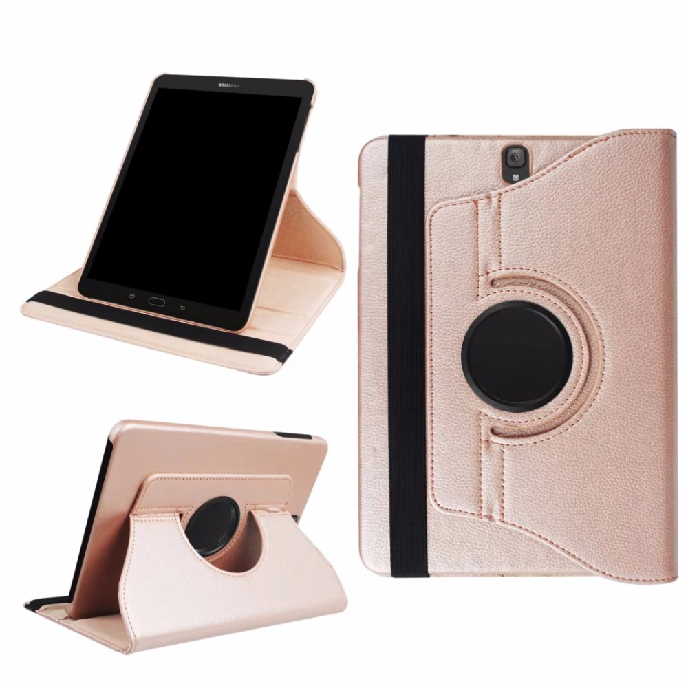 For Samsung Galaxy Tab S3 T820 T825 9.7 inch Tablet Case 360 Degree Rotating PU Leather Stand Flip Folio Screen Protector Cover flip left and right stand pu leather case cover for blu vivo air