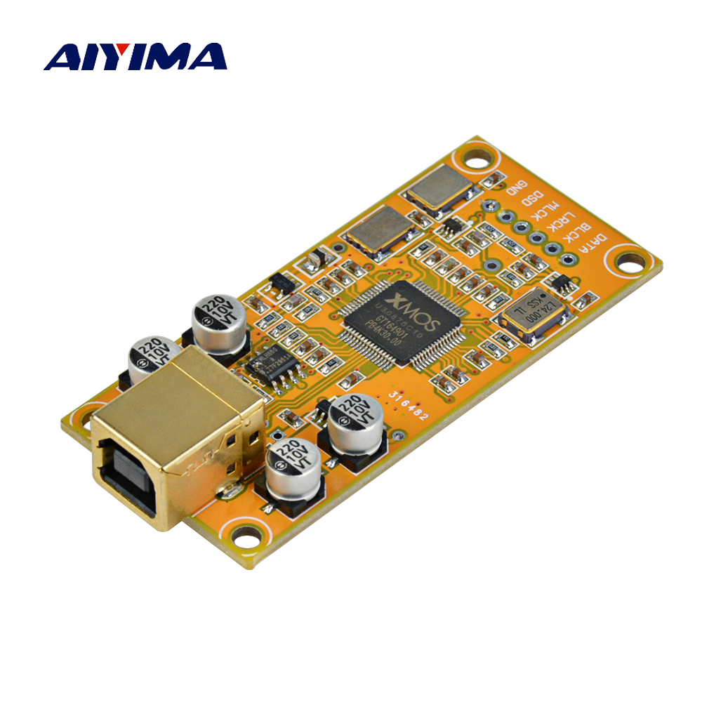 AIYIMA XMOS XU208 ドーターカードデコードボードサポート 32BIT 384 18K ES9018 デコード互換 Amanero USB IIS デジタルインタフェース  グループ上の 家電製品 からの アンプ の中 1