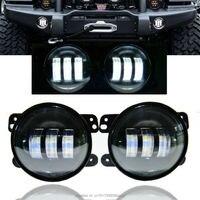 New 2PCS 4inch 30W LED Fog Lights Len Projector For Jeeps Tractor Boat LED Fog Lamps