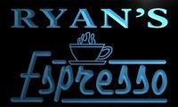 X0049-tm de Ryan Espresso Café Feitos Sob Encomenda Personalizada Do Sinal de Néon Atacado Dropshipping On/Off Switch 7 Cores DHL