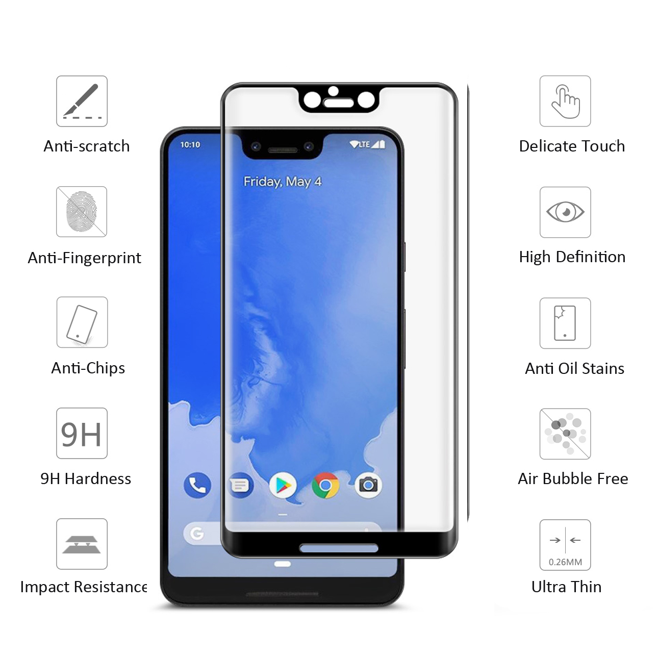 Полностью покрытая закаленная пленка для Google Pixel 3 2 XL, защита экрана с закругленными краями для Google Pixel3 2, защитное стекло, пленка|Защитные стёкла и плёнки|   | АлиЭкспресс