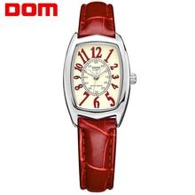Moda Casual Mulheres Relógios 200 m À Prova D' Água Relógio de Luxo Da Marca de Pulso de Quartzo Senhoras Vestido Relógio Tonneau Dial Reloj Mujer 1208