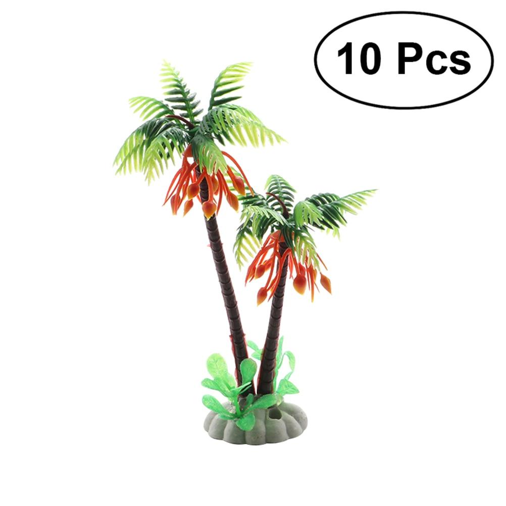 10Pcs Emulational Plastic Green Scenery Landscape Model