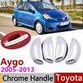 สำหรับ Toyota Aygo MK1 2005 ~ 2013 Chrome รถอุปกรณ์เสริมสติกเกอร์ Trim ชุด 2006 2007 2008 2009 2010 2011 2012