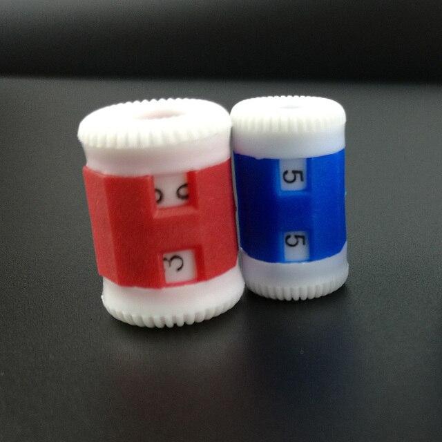 2 шт./компл. пластиковый крючок спицы счетчик рядов 2 размера большая и маленькая вязальная игла набор швейных инструментов