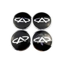 цена на Car Sticker Aluminum Alloy Wheel Hub Center Caps Emblem Styling for Chery Fulwin Arrizo QQ T11 M11 Tiggo Amulet Fora A1 A3 A5