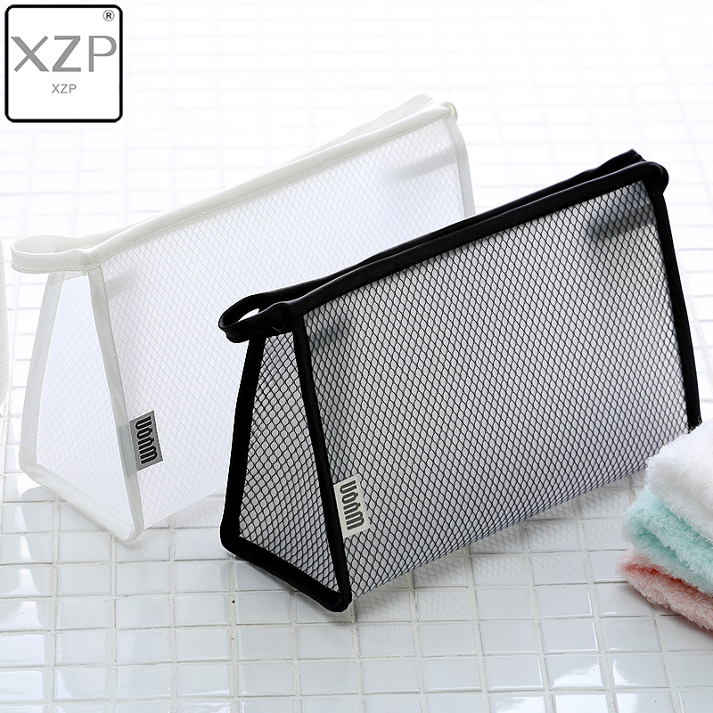 XZP Solid Transparent EVA Cosmetic Bags Travel Waterproof Mesh Makeup Tools Storage Bag Necessaire Wash Pouch Toiletry Organizer