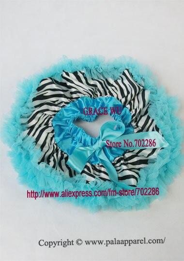 Детская юбка-пачка с рисунком зебры, крошечные юбки для новорожденных, Подарочная детская юбка-пачка - Цвет: blue ruffled