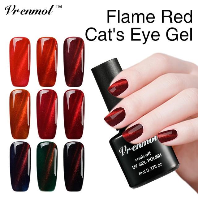 Vrenmol Newest 3D Cat Eye Gel Varnish Magnet for Nails Soak Off UV ...