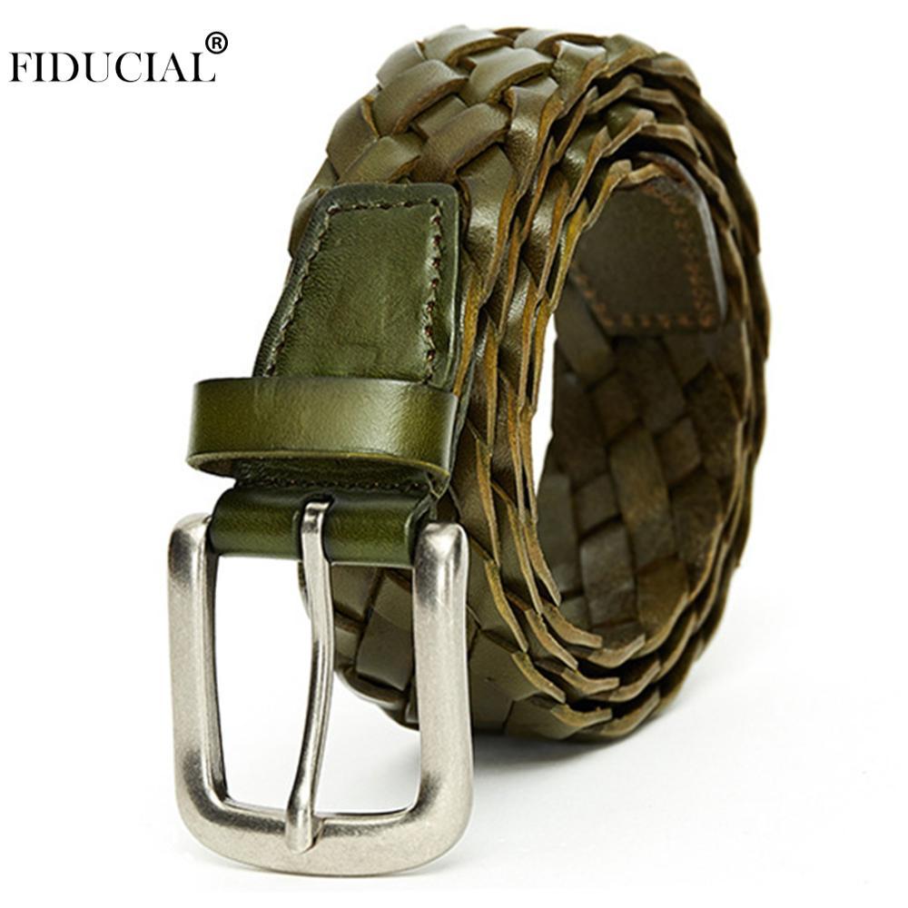 Marque FIDUCIAL Designer dames conception Unique tricoté en cuir de vachette ceintures femmes rétro mode femme accessoires Jeans FCO033