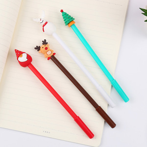 Image 3 - 40 Pcs קוריאני מכתבים חג המולד שלג יפה ניטראלי עט Creative מחט שחור חתימת עט 0.5mm