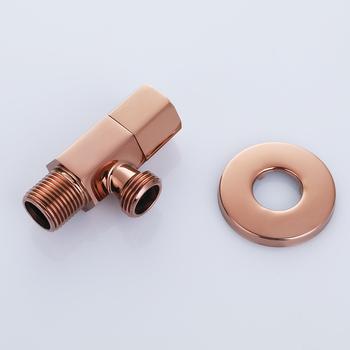 1 2 #8222 gwint zewnętrzny łazienka mosiądz różowe złoto kąt zawór odcinający wody zawór sterujący kran zawór kątowy przełączający zawór toaletowy- 2276 tanie i dobre opinie Napełniania zawory MAIDEER